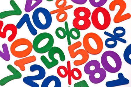 Background of numbers and mathematical symbols