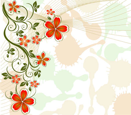 Pastel Floral background  Vector