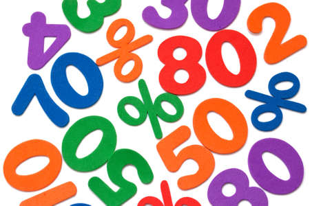 Background of numbers and mathematical symbols Stock Photo - 9136449