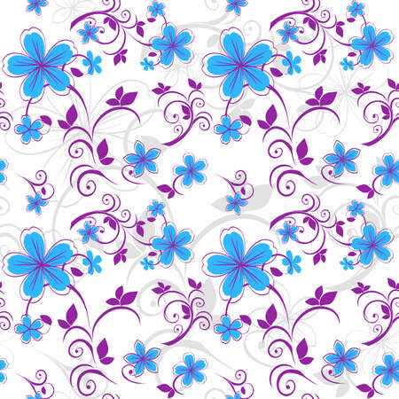 Seamless floral pattern in pastel colors.  Illustration