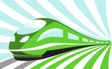 High-speed train Stock Vector - 9212871