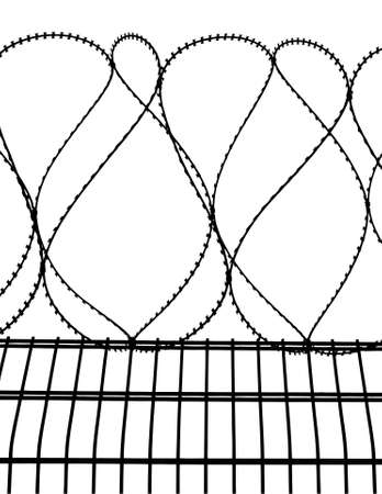 penitentiary: barbed wire fence