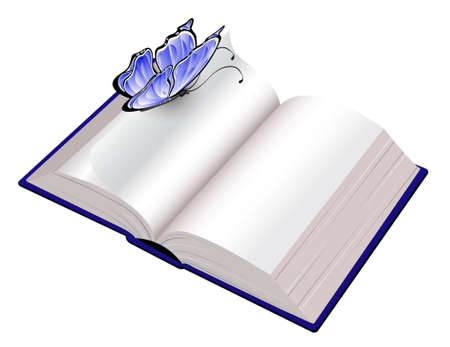 Open book with butterfly