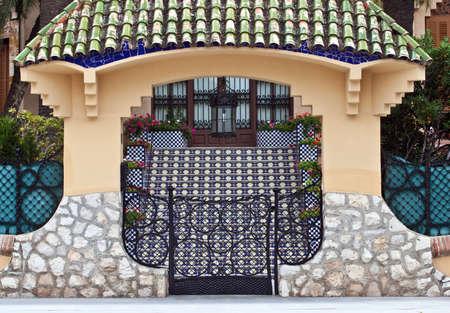 Entrance to the Spanish villa photo