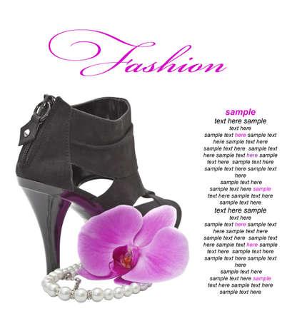 high heeled: High heeled  black shoe