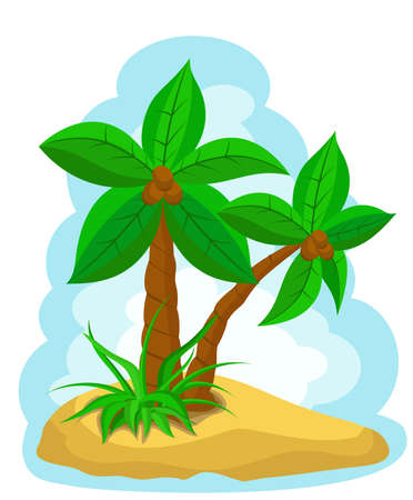 palm trees with coconut Stock Vector - 10025541