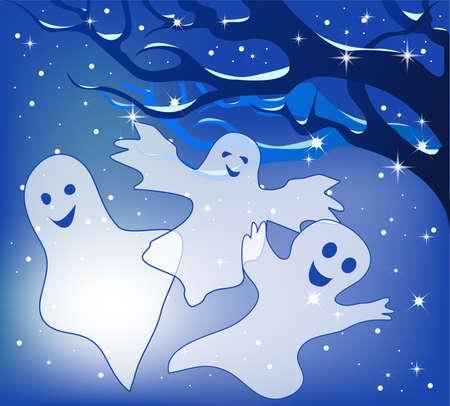 Drei fröhliche Geister. Standard-Bild - 10490466