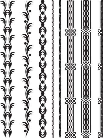 utsirad: vektor designelement Illustration