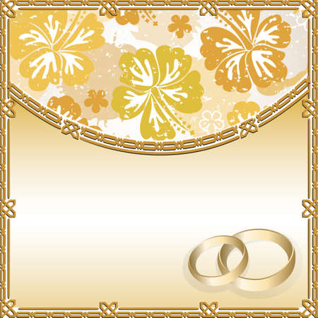 Wedding card with a floral pattern and place for text Ilustracja