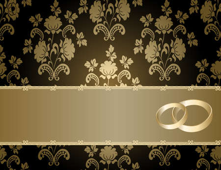 envelope decoration:  Tarjetas de boda con un patr�n floral y lugar para el texto