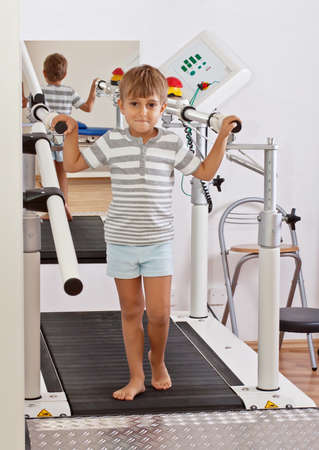physical therapy: Boy on a Treadmill