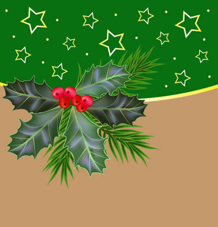 Christmas and New Year background. Vector