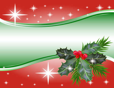 christmas ivy:  Christmas and New Year background.