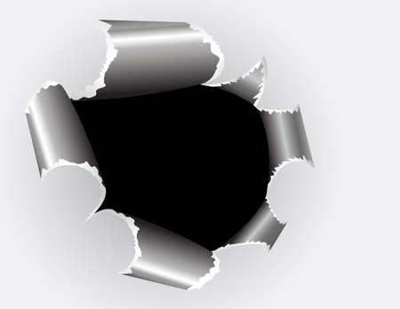 Torn paper. Illustration