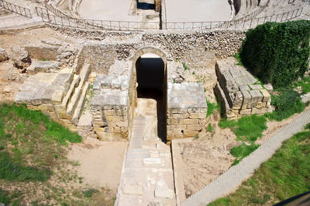 roman amphitheatre: Anfiteatro romano. Espa�a. Tarago�a.