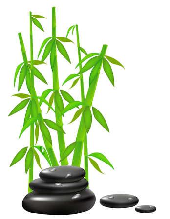 Zen Stones with bamboo