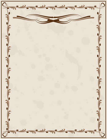 Old paper background with ornament Vector