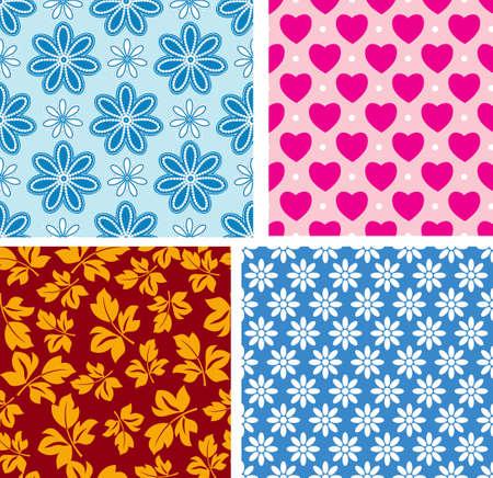Four seamless pattern with children's area Векторная Иллюстрация