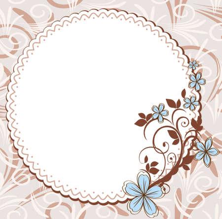 Vintage frame with floral pattern Ilustração