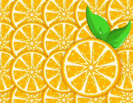 illustration of an orange background with leaves Stock Vector - 13209408
