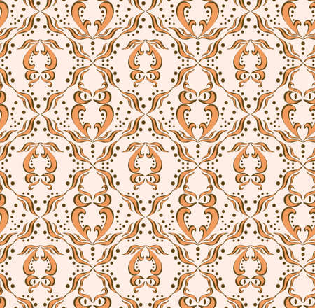Seamless pattern with abstract owl Vector
