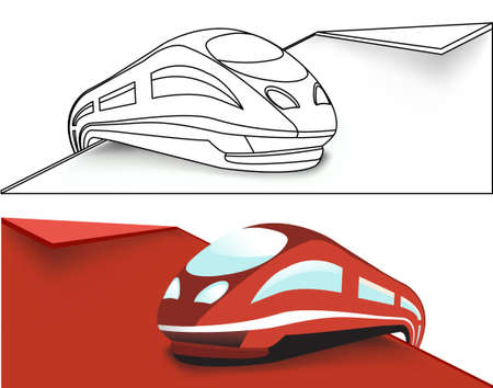 high speed railway: High-speed train  Illustration