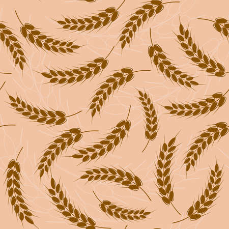 Spikes of wheat. Seamless pattern. Stock Vector - 13307264