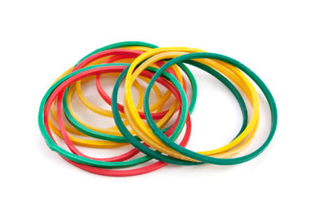 rubberband: Elastic bands on a white background