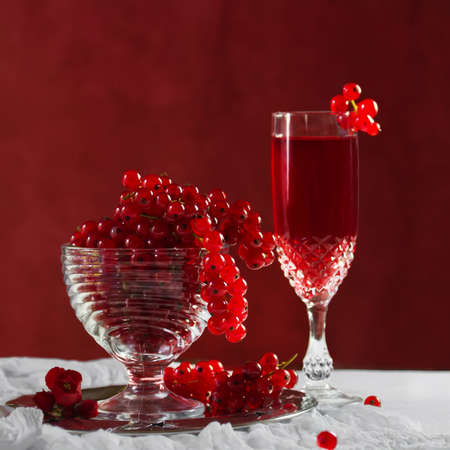 Still life with red currants photo