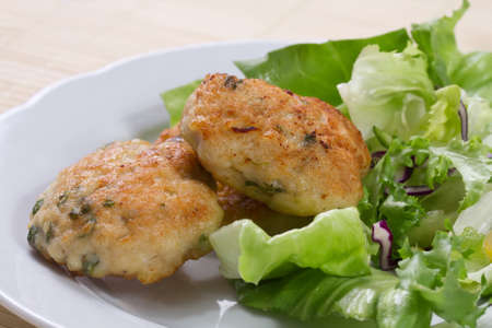 Chicken burger with mint Stock Photo - 16493693