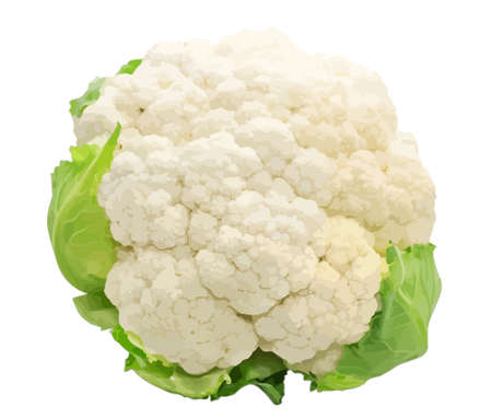 brassica: Cauliflower isolated on white background