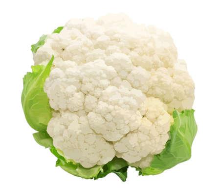 brassica: Cauliflower isolated on white background
