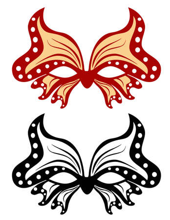 masquerade mask: Image masquerade mask in the shape of a butterfly Illustration