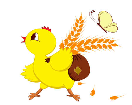 Abstract image of a chicken with wheat Stock Vector - 17970101