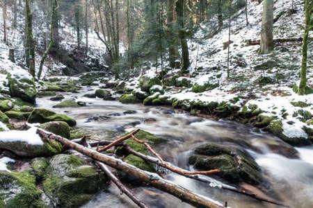 バーデン ・ バーデン ヨーロッパ、ドイツで峡谷の山川 写真素材
