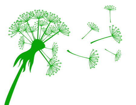 see weed: Banner with dandelion