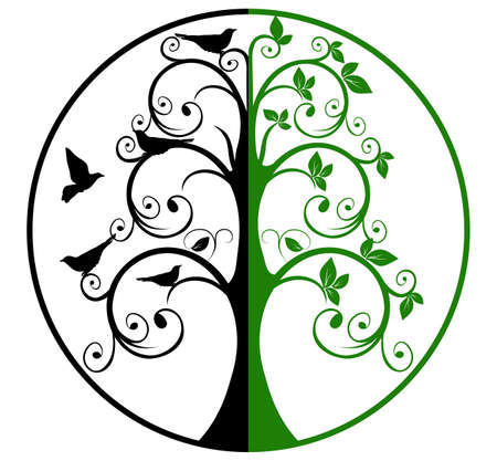 albero della vita: Albero della Vita e della Morte Vettoriali
