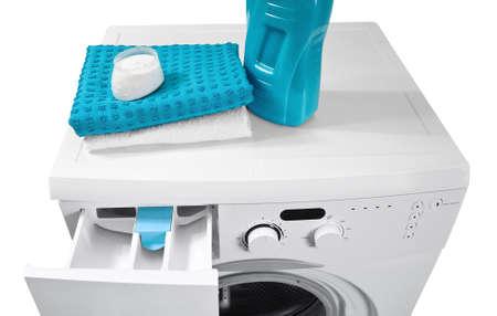 Washing machine and laundry powder for washing   photo