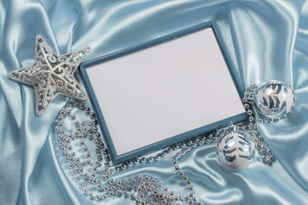 Christmas background with frame for photo Stock Photo - 22993203
