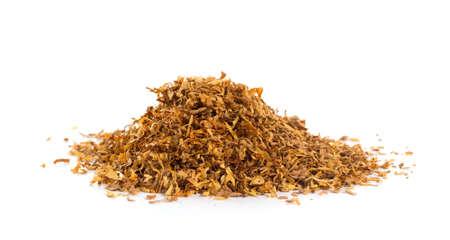 Stelletje tabak op een witte achtergrond Stockfoto