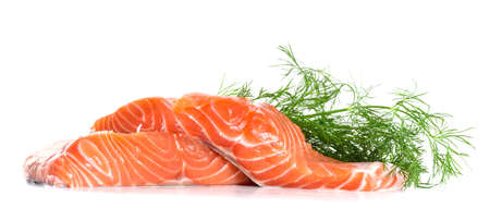 Salmon fillet with dill photo