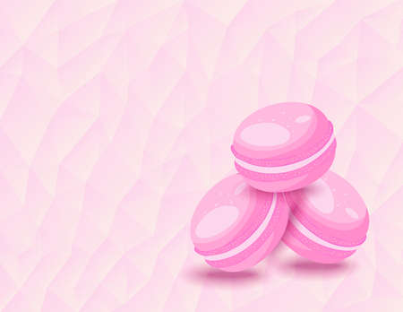meringue: French macarons on the background of triangles
