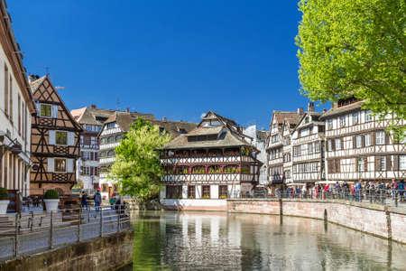 STRASBOURG, FRANCE - APRIL 16: District little France  on APRIL 16, 2014 in Strasbourg, France.  Strasbourg is the most popular tourist destination in France.District little France
