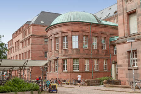 FREIBURG IM BREISGAU, GERMANY - AUGUST 6, 2014: The building of the University in Freiburg, a city in the south-western part of Germany in the Baden-Wurttemberg state.