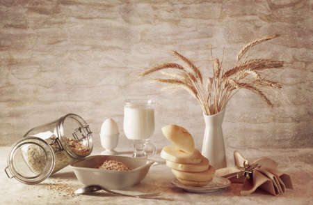 stilllife: Still-life with milk and oatmeal