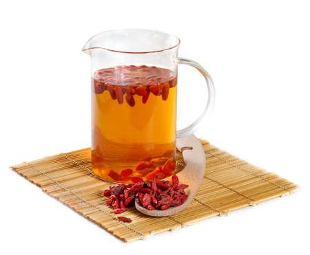 Herbal tea from goji berries photo