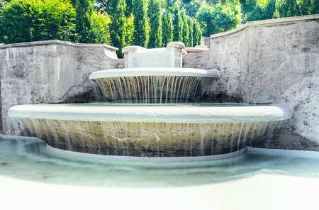 europe closeup: Cascade Fountain Water Paradise closeup  in Baden-Baden. Europe.