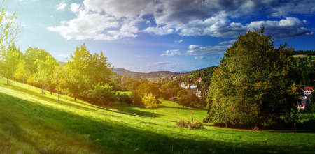 black forest: Sunrise in the Black Forest. Germany. Europe. Stock Photo