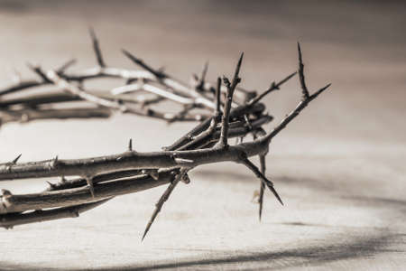 persecution: Crown of thorns. Christian concept of suffering.