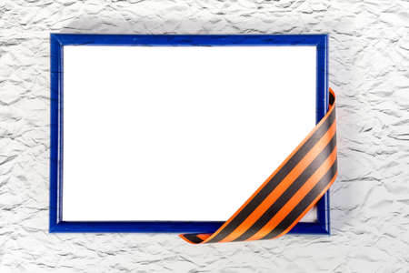 oldened: Photo frame with  St. Georges ribbon